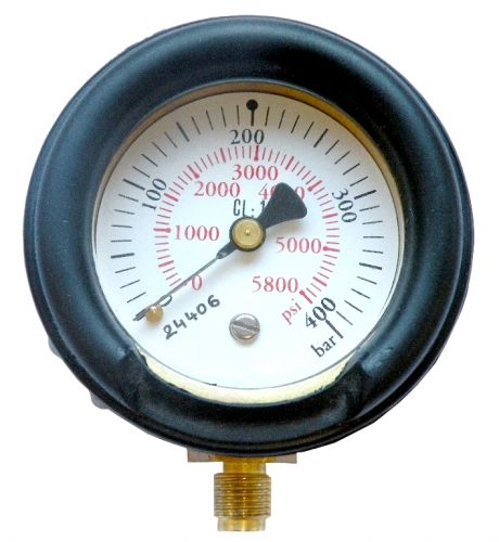 Metallic pressure gauge nd63 male 1/4 npt